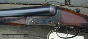"""12 gauge J. Dickson & Sons 2 3/4"""" Heavy Proof Double Barrel Side-by-Side Shotgun"""