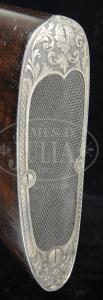 Skeleton Buttplate on the 12 gauge J.P. Sauer Deluxe Grade Side-by-Side Double Barrel Shotgun
