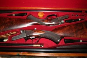 A pair of 12 gauge Daniel Fraser boxlock side-by-side shotguns