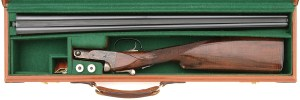20 gauge Parker / Winchester Reproduction side-by-side at Amoskeag Auctions