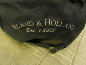Holland & Holland baseball hat on Ebay