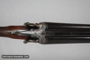 12 gauge Francotte Steel Barrel Hammergun, Floral Engraving