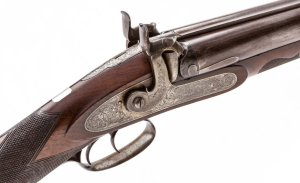 John Krider, Phila. 8 Ga. Perc. Market Double Barrel Shotgun: