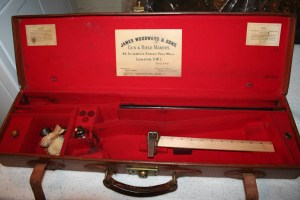 Genuine James Woodward & Sons leather Over Under Shotgun Case