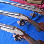 Lefever SxS shotguns from the Lefever Collector's table
