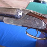 Lefever SxS shotgun on the Lefever Collector's table.