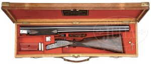 WOODWARD ROUND BODY OVER-UNDER SINGLE TRIGGER HEAVY GAME GUN