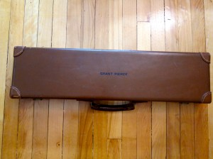 12 gauge Abercrombie & Fitch Leather Side-by-Side Shotgun Case + Original Accessories