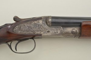 "L. C. Smith Special Grade hammerless SxS shotgun, 20 gauge, 32"" factory barrels with ventilated rib"
