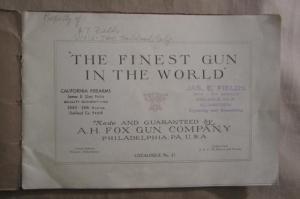 1908 A.H. Fox Philadelphia, PA, double barrel shotgun Campfire catalog