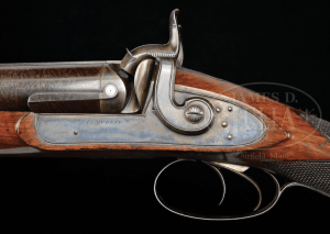 EXCEPTIONALLY FINE HIGH CONDITION PATRICK MULLIN 8 BORE PERCUSSION WATERFOWLER. Sold for $9,775