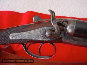 """12 gauge Webley & Scott hammergun, 30"""" bbls"""