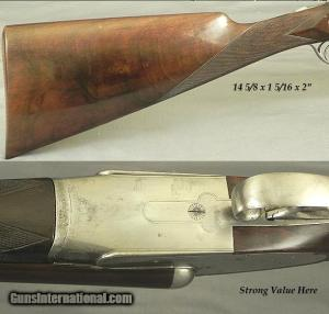 BREDA- 1952 ITALIAN 12 SIDELOCK EJECTOR DOUBLE BARREL SHOTGUN
