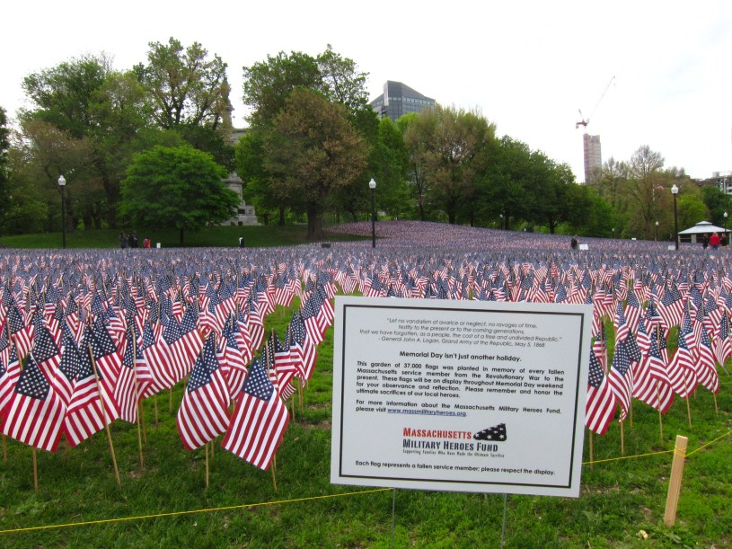 Boston Common Memorial Day 2014 Flag Display