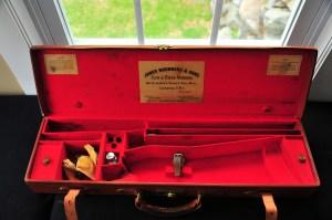Original  James Woodward & Sons Leather Over Under Shotgun Case