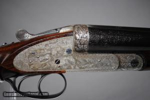 "SIMSON PIGEON GUN IN 12 GAUGE - HIGHLY ENGRAVED - 29 1/2"" BARRELS"