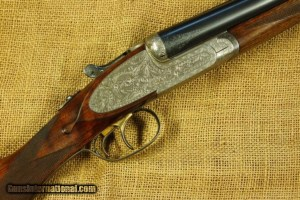 Uriguen 12b sidelock SxS shotgun with 7 pin H&H style locks