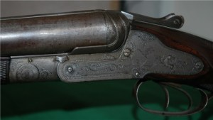 Antique Sneider 8 gauge double barrel sxs shotgun
