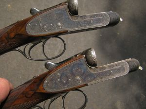 12g Boss & Co. SxS Shotguns, 1925, post-Roberston. From www.drake.net