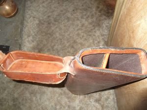 Vintage rare Holland (Mulholland) Leather 31 INCH Gun Case Leg-O-Mutton