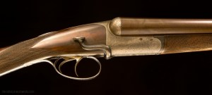 John Dickson of Edinburgh, 12g Round Action SxS shotgun with super rare sidelever