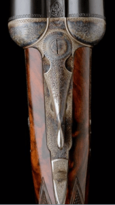HARTMANN & WEISS: AN EXCEPTIONAL 12-BORE GULLERT-ENGRAVED BOSS-TYPE SINGLE-TRIGGER ROUNDED BAR SELF-OPENING SIDELOCK EJECTOR, serial no. 2403