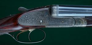"Joh. Springer, Vienna --- Model 40, Matched Consecutive Pair Sidelock Ejectors --- 12ga, 2 1/2"" Chambers"