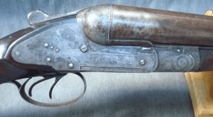 8 gauge Sneider Baltimore SxS Hammerless Shotgun