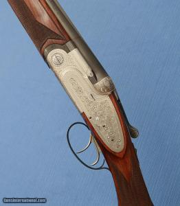 BERETTA - Abercrombie & Fitch - SO3 - 28-1/8 Bbls - M / F - Double Triggers - Hand Built Sidelock Gun