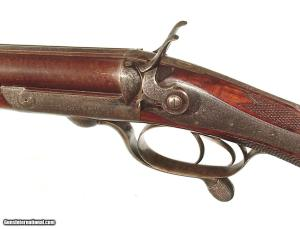 CHARLES LANCASTER {OVAL-BORE} HAMMER DOUBLE RIFLE IN .450 CALIBER