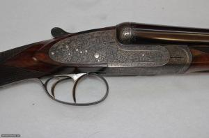 EXTRAORDINARY SMALL GAUGE IMPERIAL LEBEAU COURALLY SIDELOCK 20 GAUGE SxS SHOTGUN