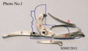 Key parts of an Anson & Deeley boxlock SxS shotgun, from Finegunmaking.com, Steven Dodd Hughes