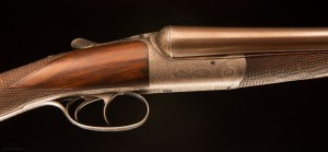 John Dickson & Son wonderful round action SxS shogun with original nitro proofed Damascus barrel
