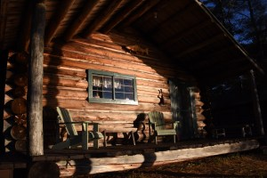 Deck off main lodge at Chandler Lake Camps