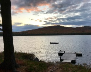 Sunset at Chandler Lake Camps