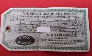 "Ansley H. Fox 16ga. Side by Side. 28""brls. Grade ""A"""