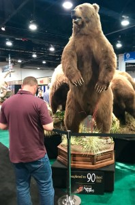 More taxidermy at Safari Club gathering. That's a big bear.