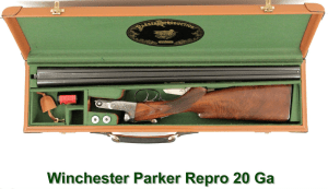 20g DHE Parker / Winchester Reproduction SxS shotgun, double barrel shotgun