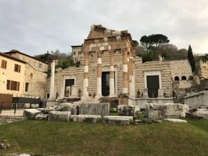 Roman ruins in Brescia