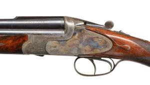 Poulinantiques.com, May 2018 auction. Lot #1029: S. A. LEONARD 20 GAUGE O/U SHOTGUN