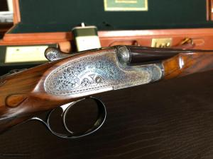 "Holland & Holland ""The Royal"" .410 Bore 3"" - Deep Engraving - Sidelock - Case Color - Rich Colors on Wood & Frame"