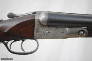 Rare Parker VHE 12-gauge SxS shotgun on a 1/2 frame