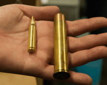 .223 on the left, .600 Nitro Express on the right