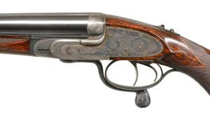 J. PURDEY & SONS SIDELOCK SXS .360 EXPRESS DOUBLE RIFLE, coming up at Poulin Auctions on 10/20/18.