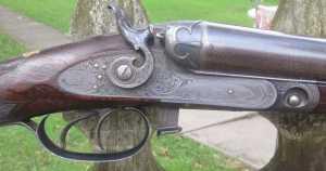 12g PARKER UNDERLIFTER HAMMER SHOTGUN - SER. No 6943 - 300 DOLLAR GRADE - LISTED IN PARKER BOOK AS CENTENNIAL GUN