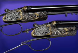 Phil Coggan's work on a pair of Boss & Co SxS shotguns. Pic courtesy of Phil Coggan.