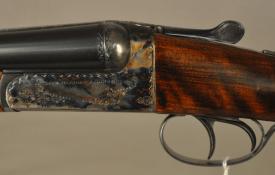 """AYA Grade 4, 20 ga. side by side shotgun, 28"""" barrels, Ejectors, Hard Cased, Spain"""