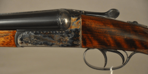 "AYA Grade 4, 20 ga. side by side shotgun, 28"" barrels, Ejectors, Hard Cased, Spain"