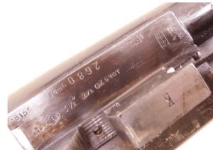 8 gauge Ralph Grant Boxlock SxS shotgun