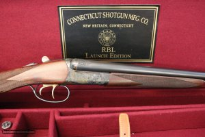 Like New CSMC RBL Launch 20 gauge Auto Eject Double Trigger Straight Grip Exhibition Wood Cased 28 Inch Barrels